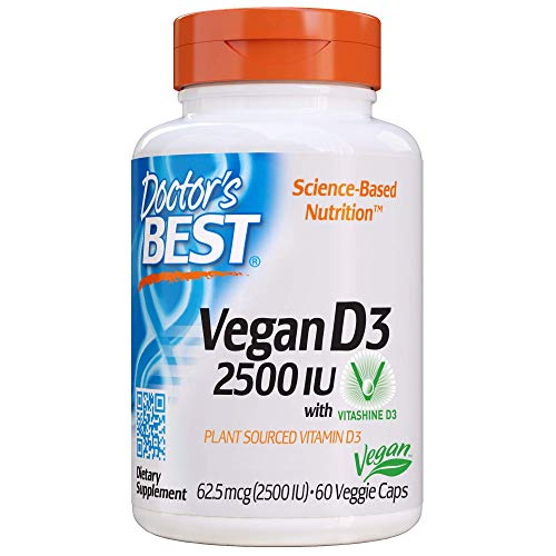(FROM USA) Doctor's Best Vitamin D3 2500IU with Vitashine D3, Non-GMO, Vegan,