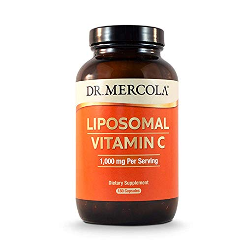 From USA Dr. Mercola Liposomal Vitamin C 1,000mg per Serving - 180 Capsules -