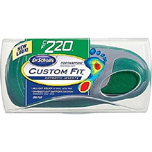 (FROM USA) Dr. Scholl's Custom Fit Orthotics, CF220 Green Unisex