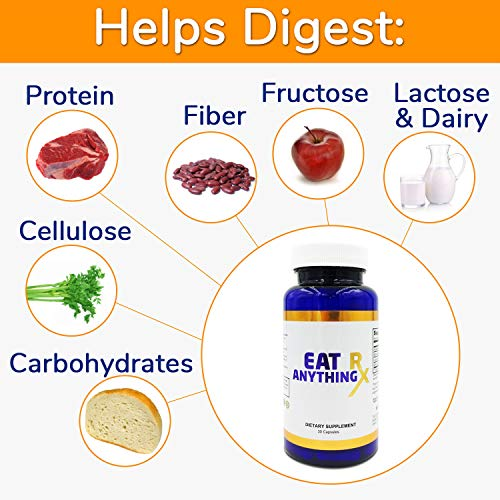 (FROM USA) Eat Anything Rx Digestive Enzymes, Fructose Malabsorption Aid, More