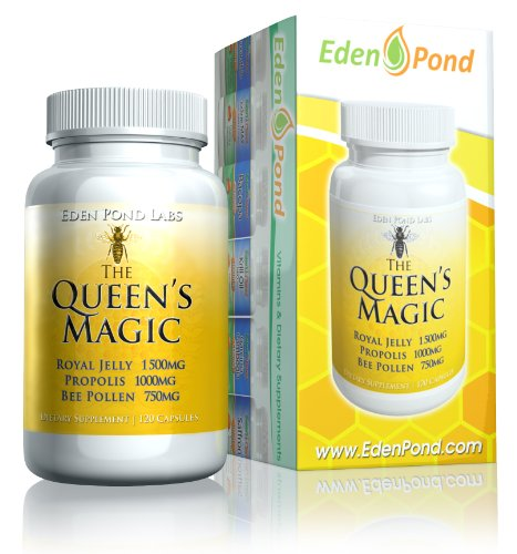 (FROM USA) Eden Pond Queen's Magic Bee Pollen (Royal Jelly 1000mg, Propolis 75