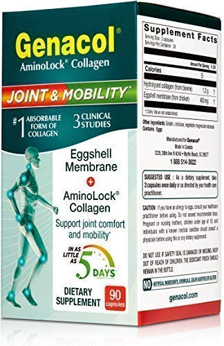 (FROM USA) Eggshell Membrane + Collagen Pills Joint Supplement - Genacol Joint