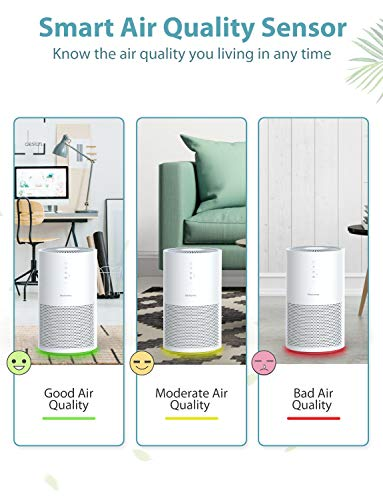 From USA Elechomes EPI236 Pro Series Air Purifier for Large Room with True HEP