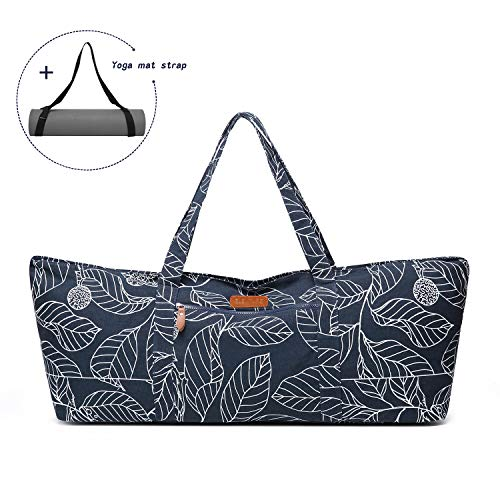 [From USA]ELENTURE Large Yoga Mat Tote Bag Yoga Carrier Sling Bag with Multi-F