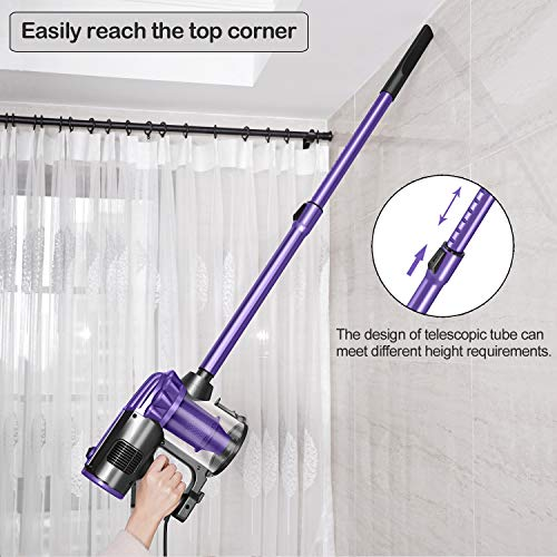 From USA elezon Vacuum Cleaner Corded, 17KPa Powerful Suction Stick and Handhe