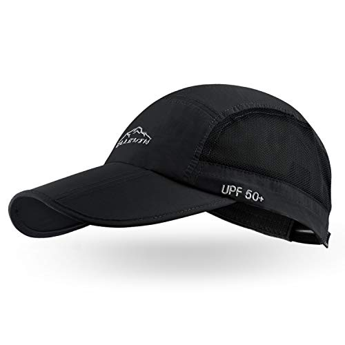 (FROM USA) ELLEWIN Unisex Baseball Cap UPF 50 Unstructured Hat with Foldable L