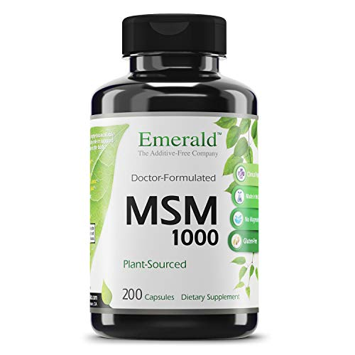 (FROM USA) Emerald Labs MSM 1,000 mg - Joint Support for Aches and Pain, Anti-