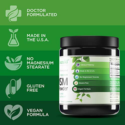 (FROM USA) Emerald Labs MSM Powder 4,000 mg - Joint Support for Aches and Pain