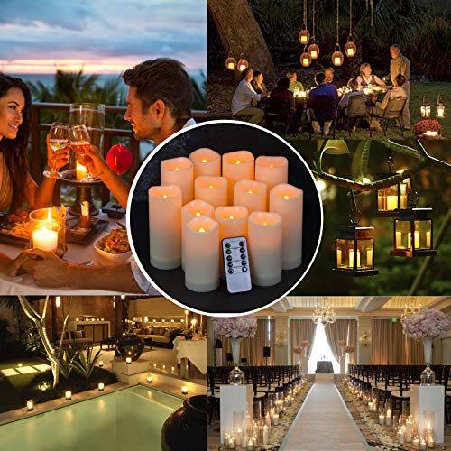 (FROM USA) Enido Flameless Candles Led Candles Pack of 12 Battery Candles (D2.