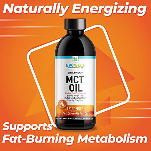 (FROM USA) Evowell Clear Mct Oil Medium Chain Triglycerides, 15 Ounce