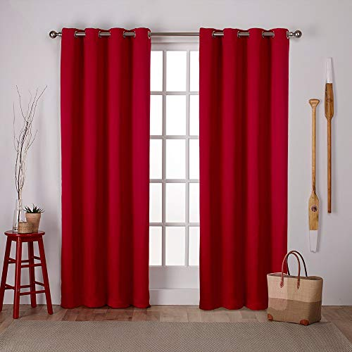 (FROM USA) Exclusive Home Curtains Sateen Twill Woven Blackout Grommet Top Cur
