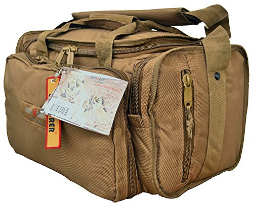 (FROM USA) Explorer Tactical Range Ready Bag 18-Inch Tan