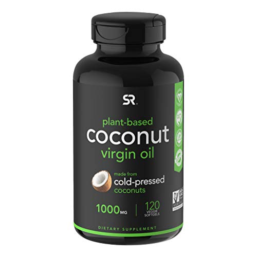 (FROM USA) Extra Virgin Organic Coconut Oil Capsules | The Only Vegan Certifie