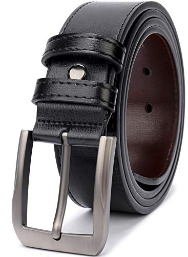 "(FROM USA) Fashion Men's Casual Leather Buckles Belts 1.5"" Wide Fitting 28"