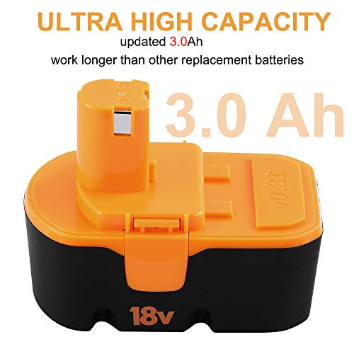 From USA Fhybat for Ryobi 18v Battery Replacement ONE+ P100 P101 ABP1801 ABP18