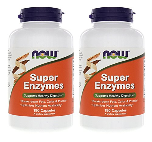(FROM USA) Now Foods Super Enzymes 180 Capsules (2 Pack)