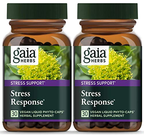 (FROM USA) Gaia Herbs Stress Response, Vegan Liquid Capsules, 30 Count (Pack o