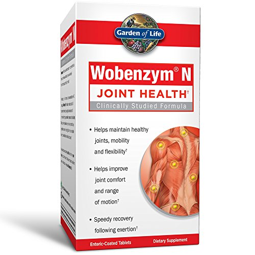 (FROM USA) Garden of Life Joint Support Supplement - Wobenzym N Systemic Enzym