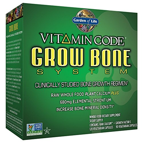 (FROM USA) Garden of Life Raw Calcium Supplement - Grow Bone System Whole Food