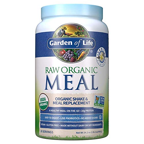 (FROM USA) Garden of Life Raw Organic Meal Replacement Powder - Vanilla, 28 Se