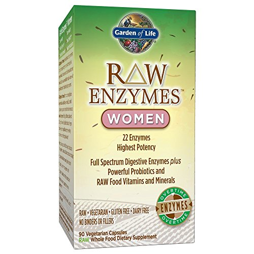 (FROM USA) Garden of Life Vegetarian Digestive Supplement for Women - Raw Enzy