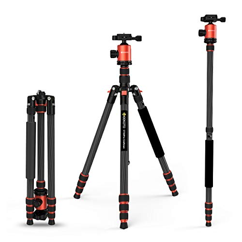 From USA GEEKOTO 79 inches Carbon Fiber Camera Tripod Monopod with 360 Degree