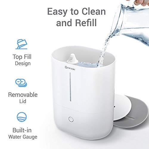 (FROM USA) GENIANI Top Fill Cool Mist Humidifiers for Bedroom  & Essential Oil