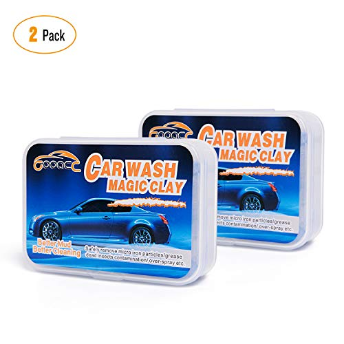 [From USA]GOOACC Magic Clean Clay Bar - for Vehicle Car 2 Pack with Box