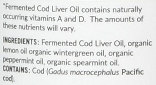 (FROM USA) Green Pasture Blue Ice Fermented Cod Liver Oil Liquid, Arctic Mint,