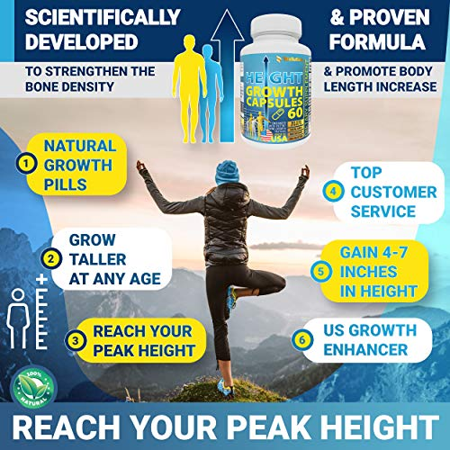(FROM USA) Height Growth Maximizer - Natural Height Pills to Grow Taller - Mad
