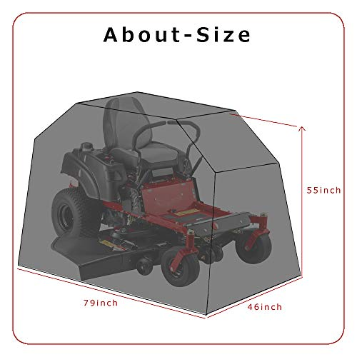 From USA Himal Outdoors Zero-Turn Mower Cover, Heavy Duty 600D Polyester Oxfor