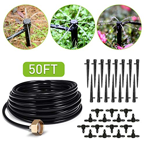 From USA HIRALIY 50ft Drip Irrigation Kit Plant Watering System 8x5mm Blank Di