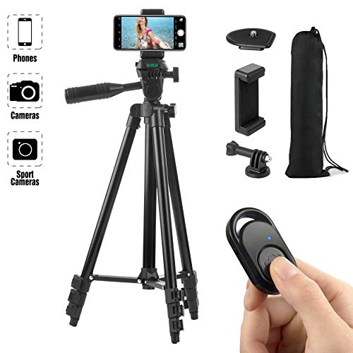 From USA Hitch Phone Tripod, Gopro Tripod 51 Inch 130cm Aluminum Lightweight S