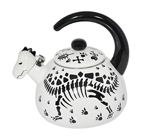 (FROM USA) HOME-X Stegosaurius Dinosaur Whistling Tea Kettle, Cute Animal Teap