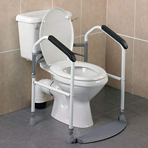 [From USA]Homecraft Buckingham Foldaway Toilet Surround Padded Toilet Grab Bar