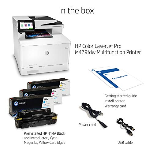 From USA HP Color LaserJet Pro Multifunction M479fdw Wireless Laser Printer wi