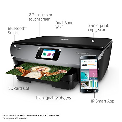 From USA HP Envy Photo 7155 All in One Photo Printer with Wireless Printing, H