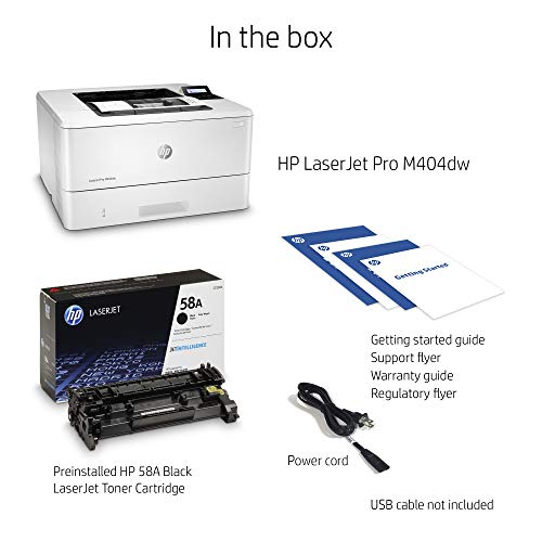 From USA HP LaserJet Pro M404dw Monochrome Wireless Laser Printer with Double-