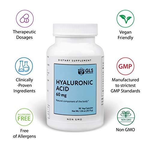 [From USA] Hyaluronic Acid Supplements by GLS Pharmaceuticals - 60mg x 90  Vega