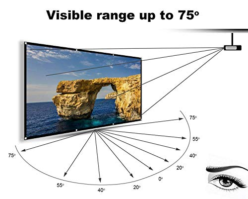 From USA Hzgang 120inch Projector Screen Indoor Outdoor Portable Movie Screens