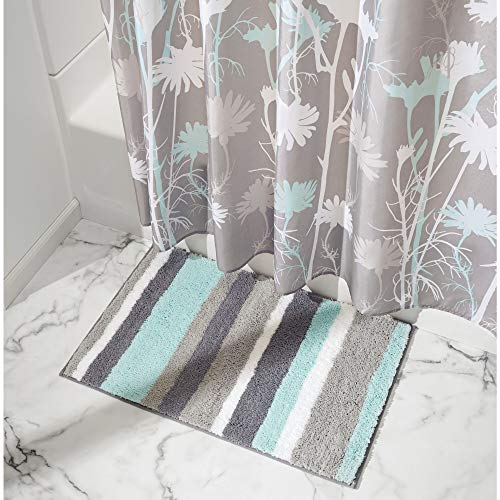 [From USA]iDesign Daizy Fabric Shower Curtain for Master Guest Kids' College D