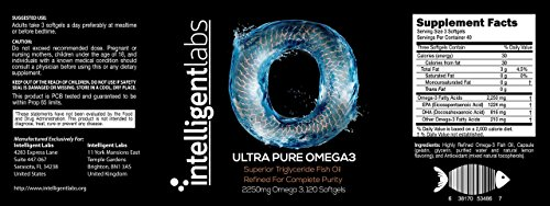 (FROM USA) Intelligent Labs Triglyceride Omega 3, 2250mg per 3-Capsule Serving