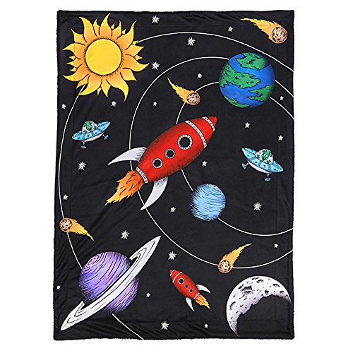 [From USA]JAXSON'S WORLD Outer Space Theme Baby  & Toddler Blanket
