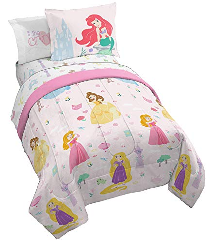 From USA Jay Franco Disney Princess Paper Cut Bed Set, Full