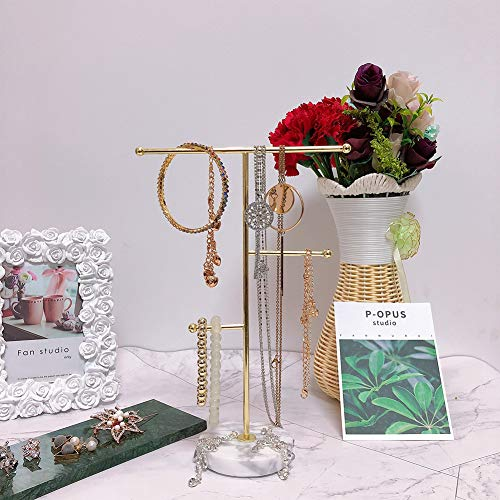 From USA Jewelry Organizer,Metal T-Bar Necklace Display Stand Earrings Holder