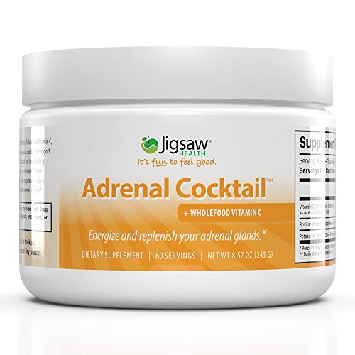 (FROM USA) Jigsaw Health Adrenal Cocktail Drinkable Powder Jar with Wholefood