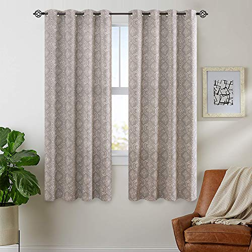 (FROM USA) jinchan Blackout Curtains Moroccan Tile Pattern Bedroom Window Curt