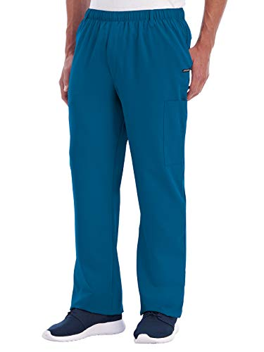 (FROM USA) Jockey 2305 Men's Multi-Pocket Cargo Scrub Pant Caribbean Blue L