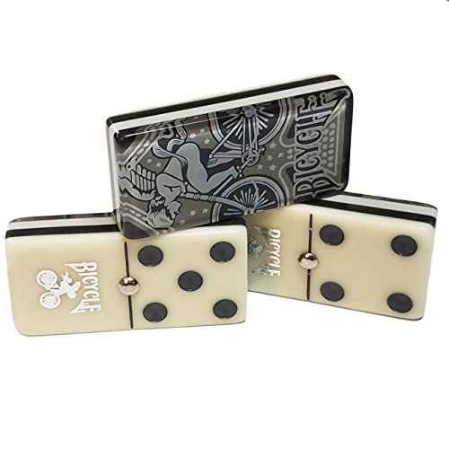 [From USA]Jumbo Domino Double Six Bicycle Card Back - Deluxe Wood Case.