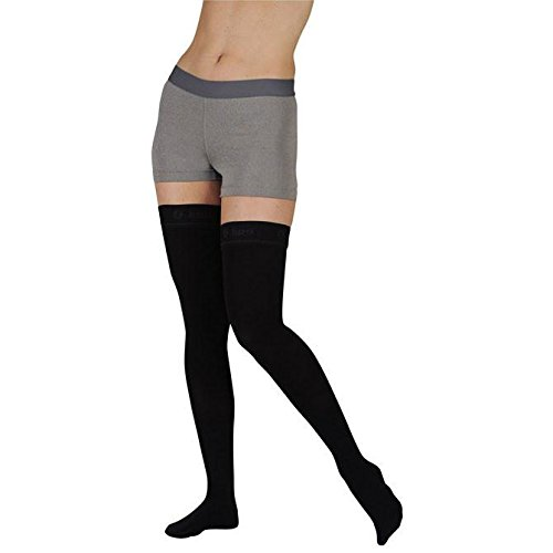 [From USA]Juzo Soft Thigh High With Silicone Dot Band Short Open Toe 20-30mmHg